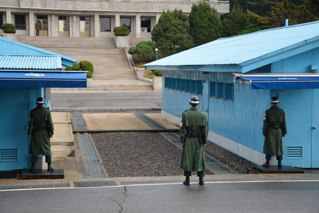 DMZ on the North Korea, South Korea border