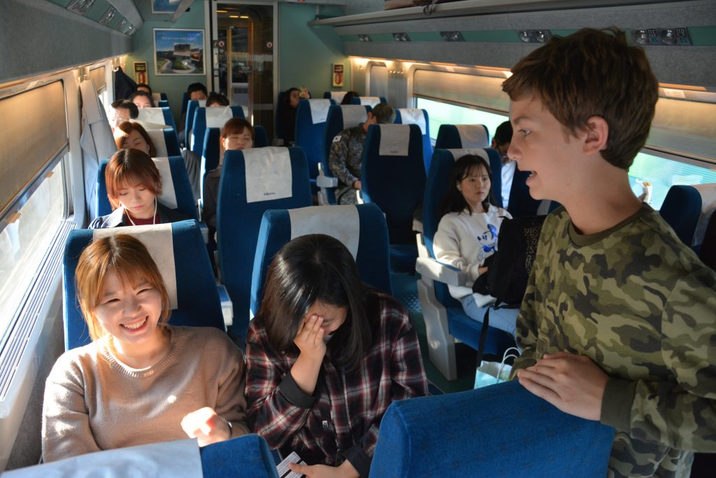 high speed train to Busan, South Korea