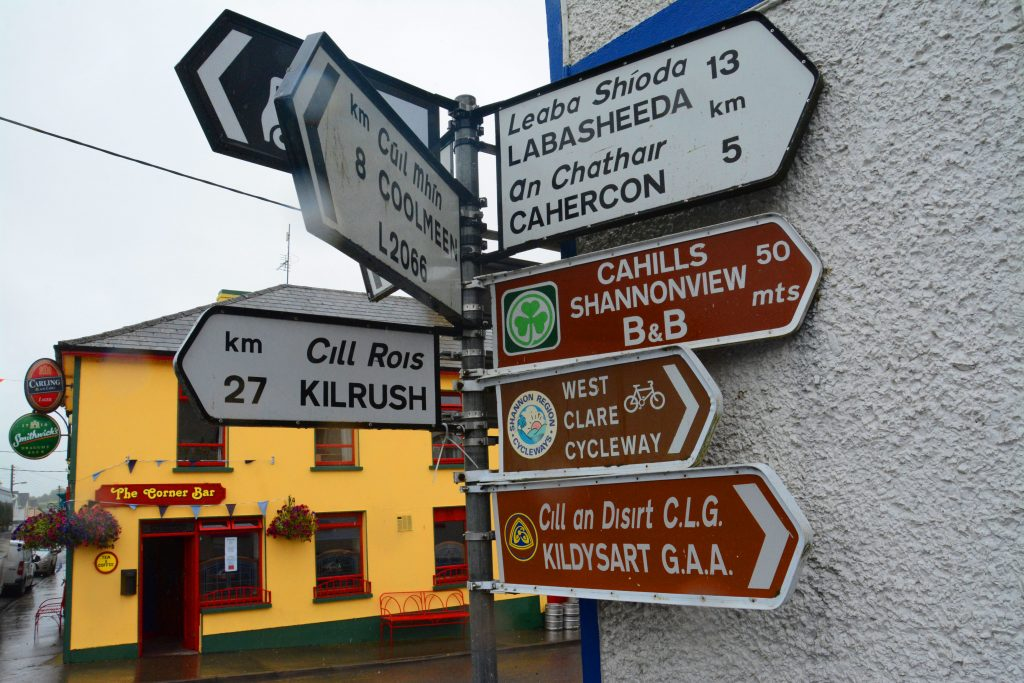 Street sign to all parts of Ireland, Killarney, Ireland